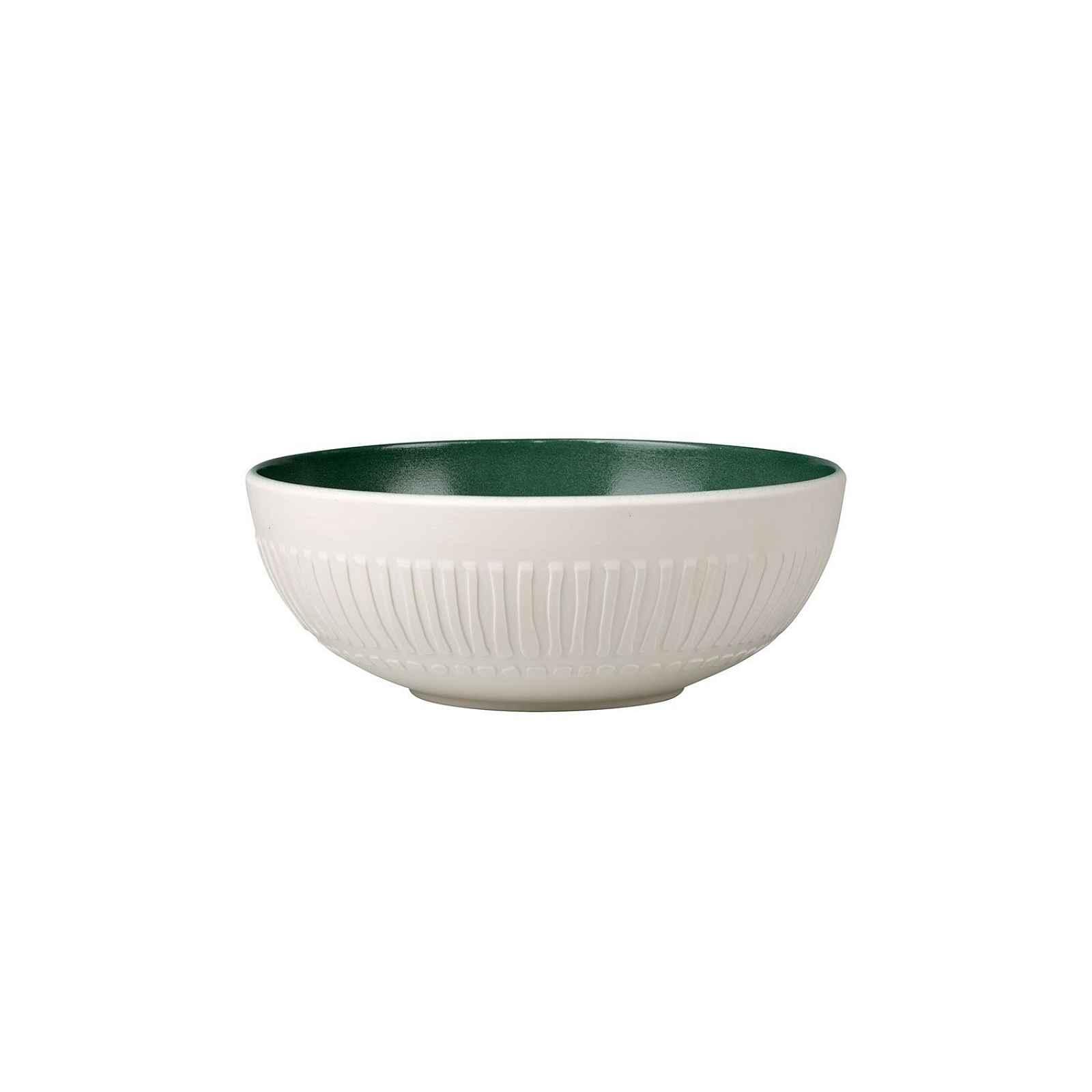 Bílo-zelená porcelánová miska Villeroy & Boch Blossom, 850 ml