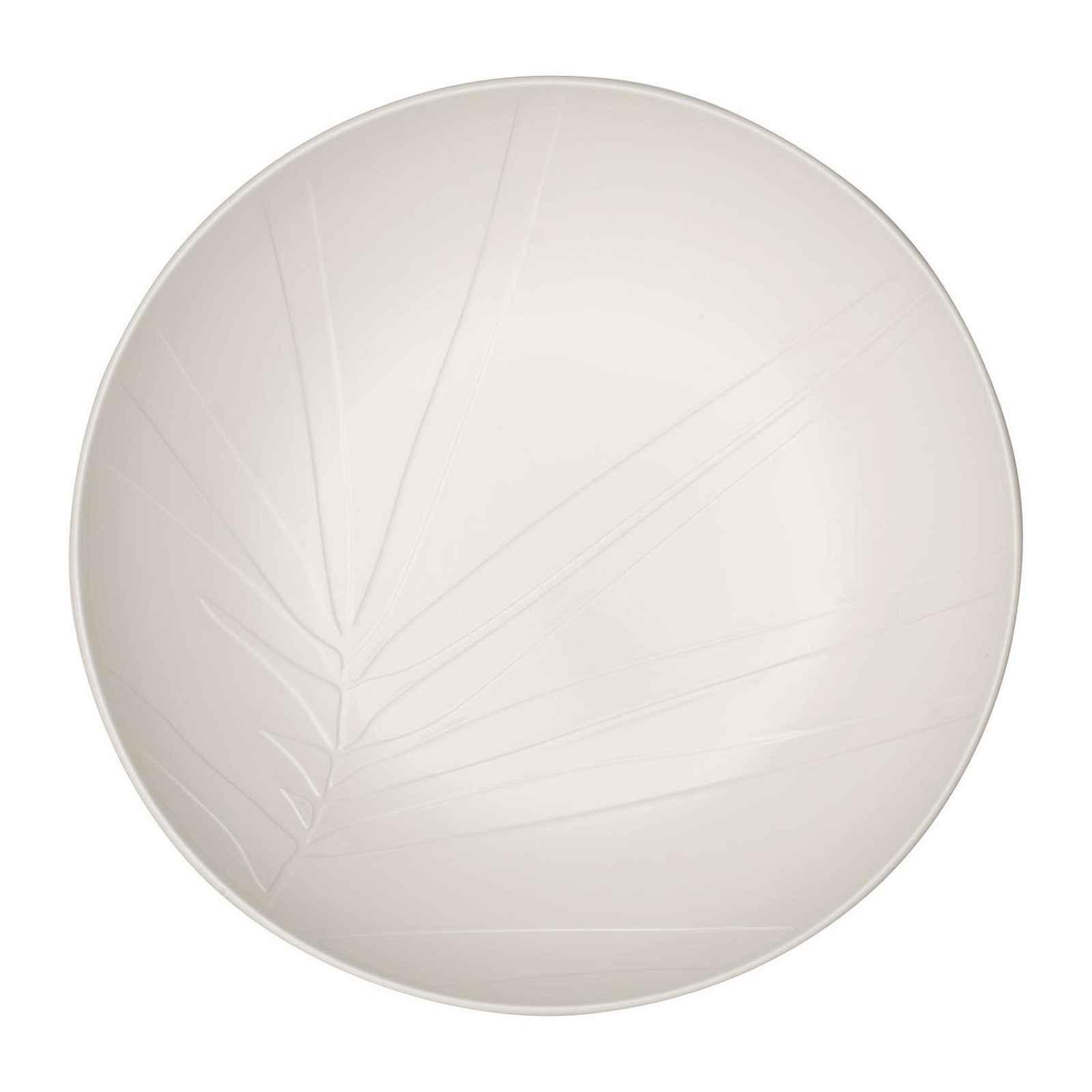 Servírovací bílá porcelánová miska Villeroy & Boch Leaf, ⌀ 26 cm