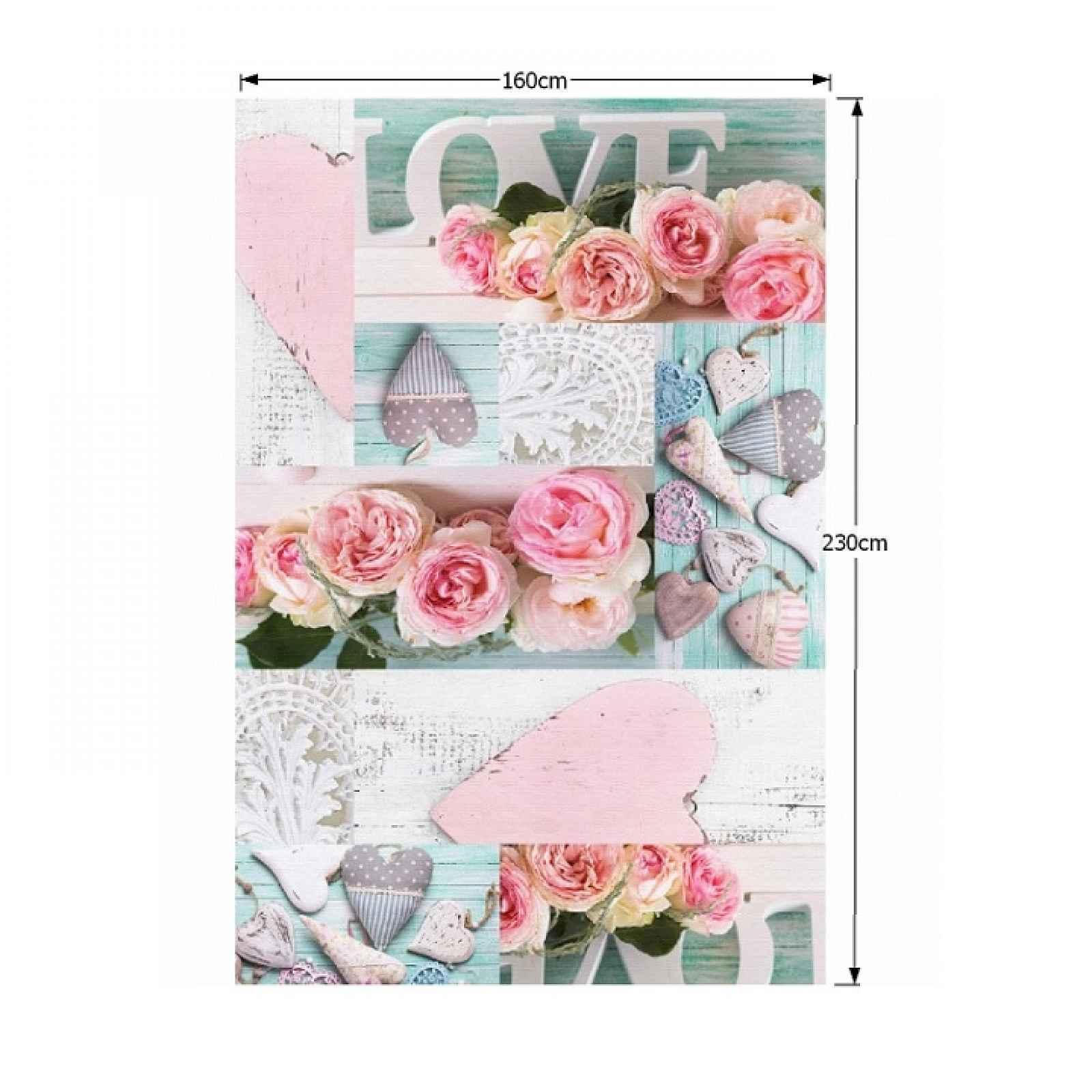 Koberec s třásněmi SONIL TYP 2 vzor růže Tempo Kondela 160x230 cm