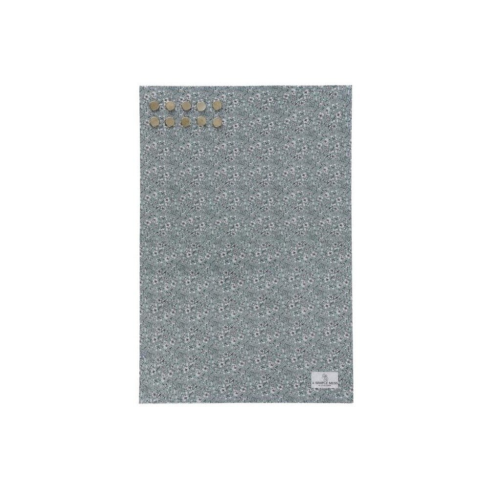 Kovová tabule na vzkazy A Simple Mess Paule Hedge Green, 40x60cm