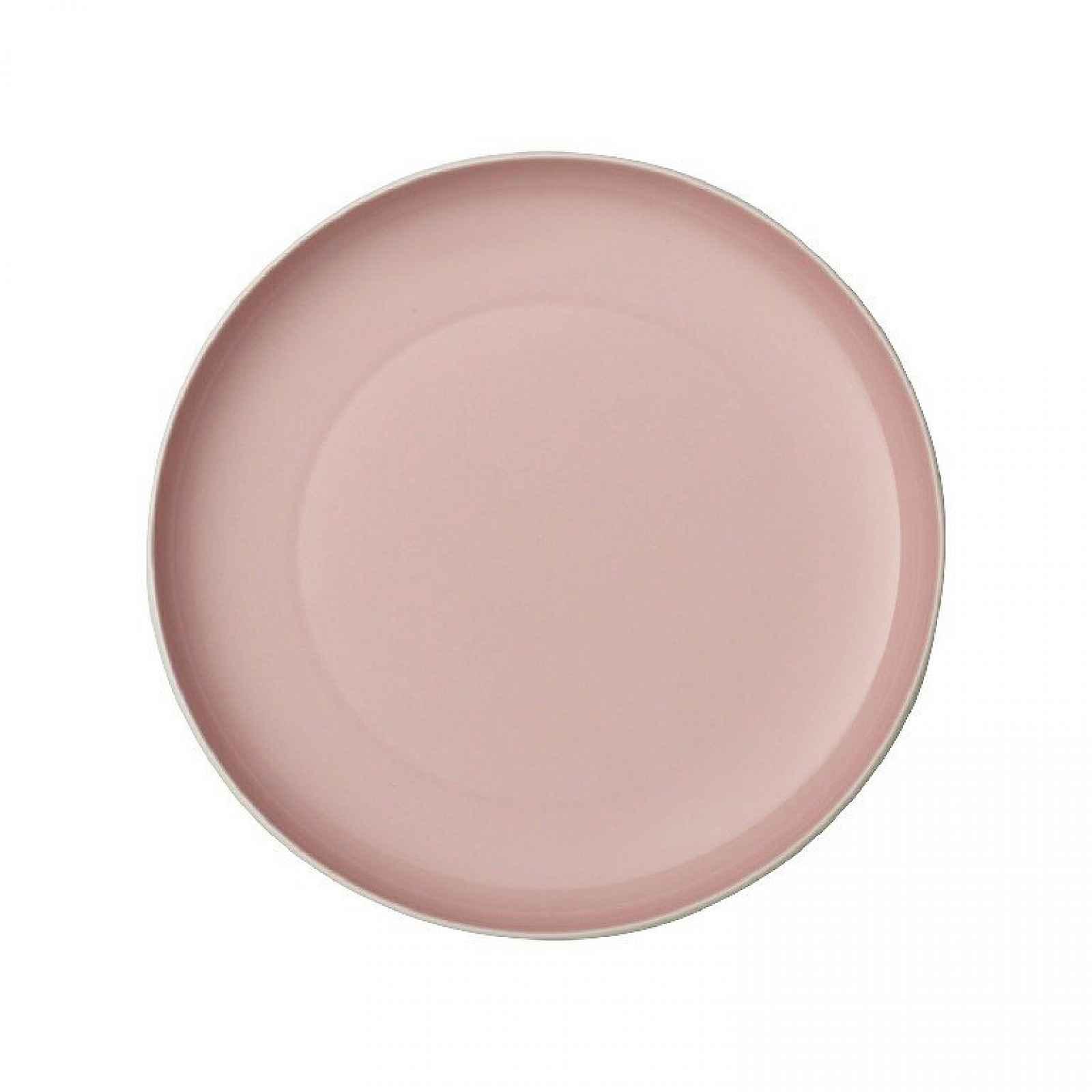 Bílo-růžový porcelánový talíř Villeroy & Boch Uni, ⌀ 24 cm