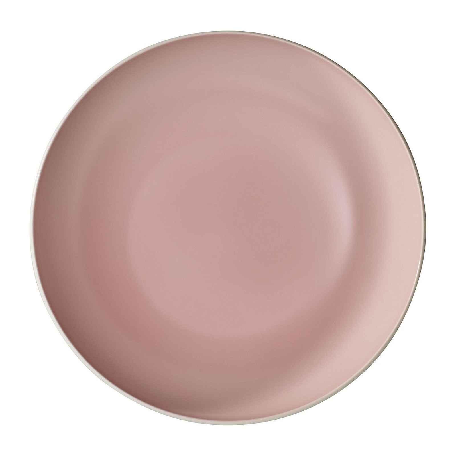 Bílo-růžová porcelánová servírovací miska Villeroy & Boch Uni, ⌀ 26 cm