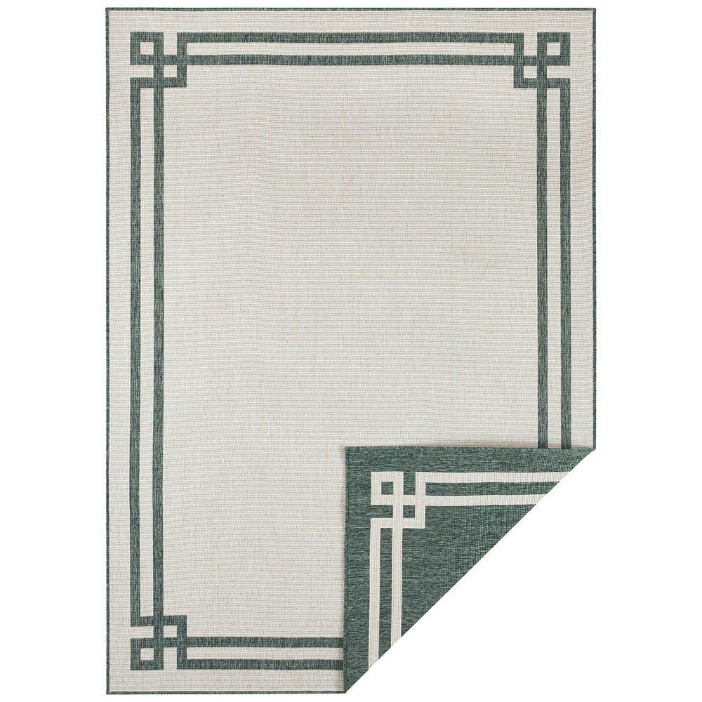 Zeleno-krémový venkovní koberec Bougari Manito, 80 x 150 cm