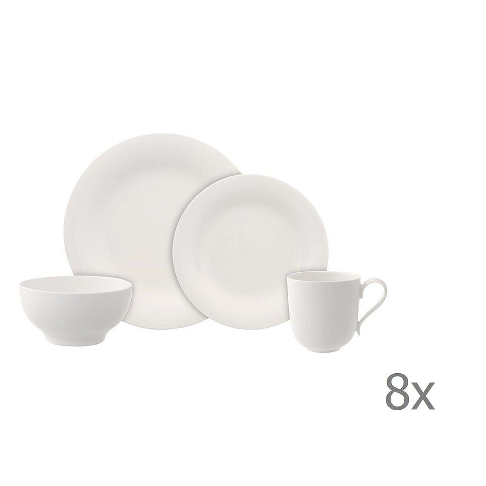 8dílný set bílého porcelánového nádobí Villeroy & Boch New Cottage