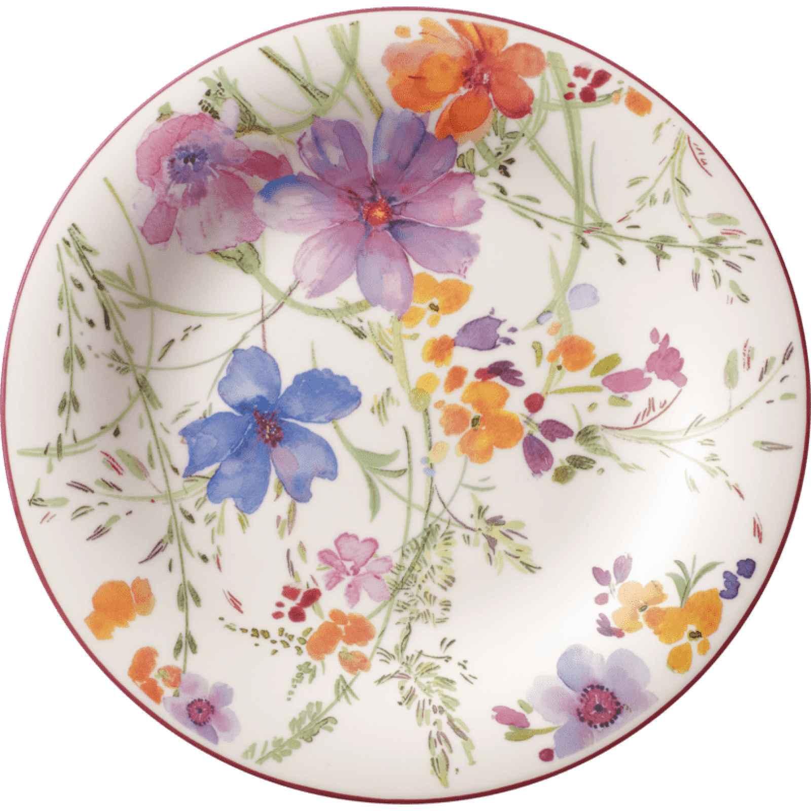 Dezertní porcelánový talíř s motivem květin Villeroy & Boch Mariefleur Tea, 21 cm