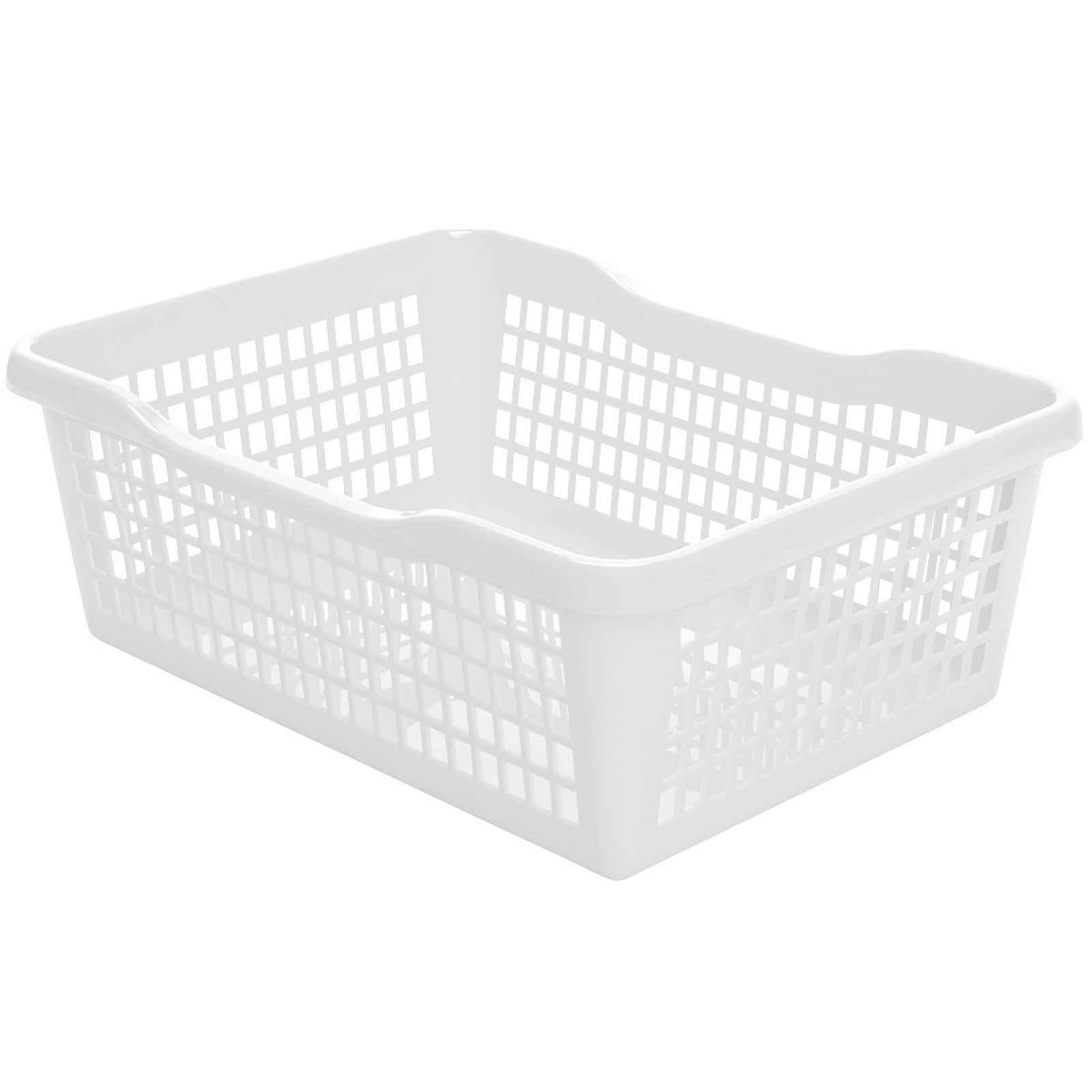Plastový košík 24,8 x 14,7 x 7,2 cm, bílá