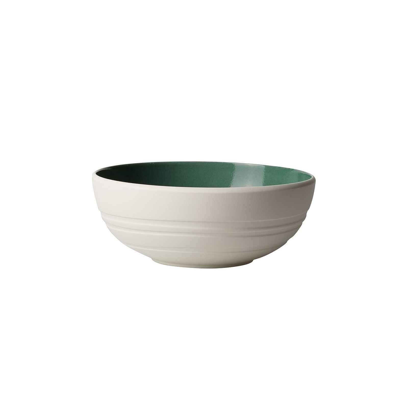 Bílo-zelená porcelánová miska Villeroy & Boch Leaf, 850 ml