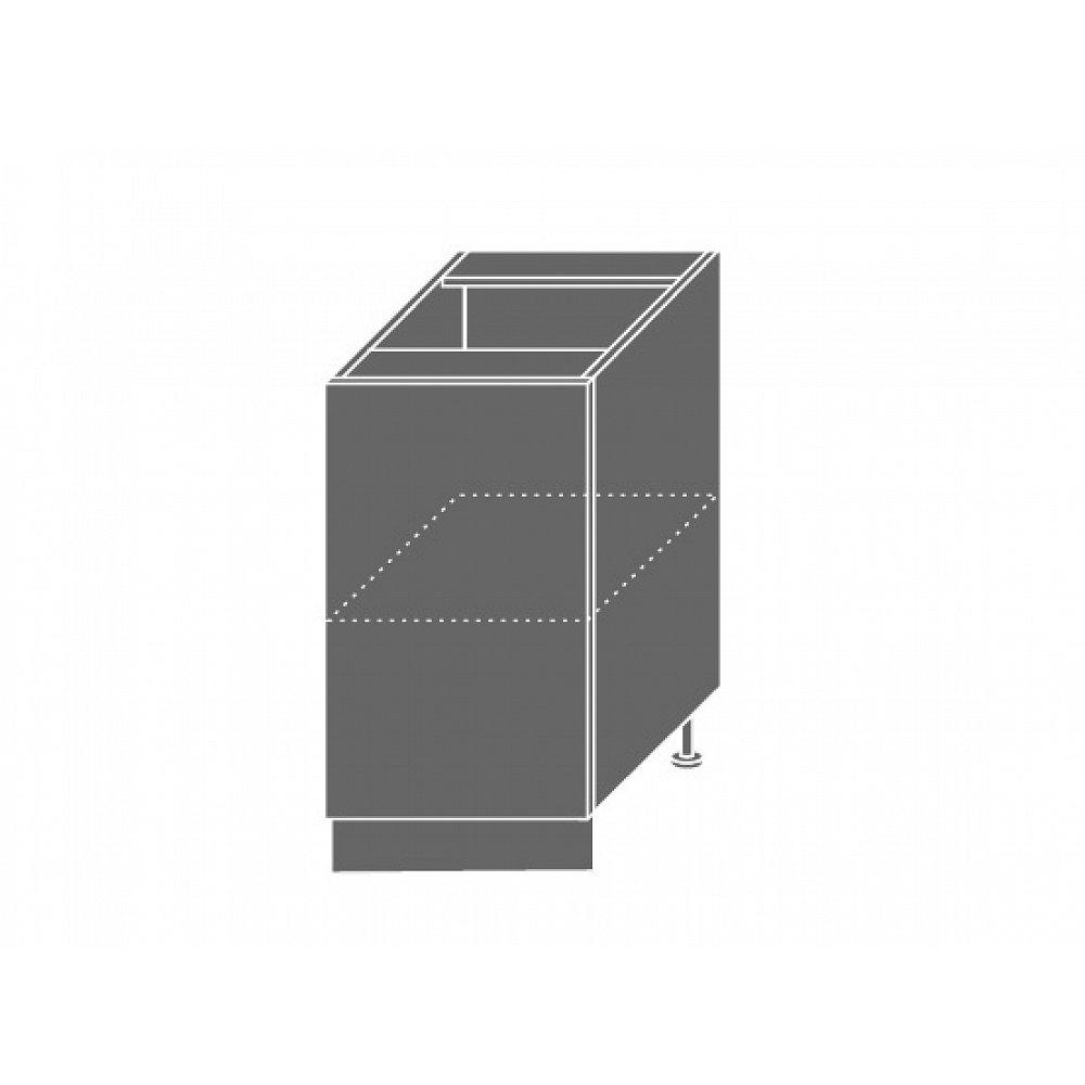 QUANTUM, skříňka dolní D1D 45, white mat/lava