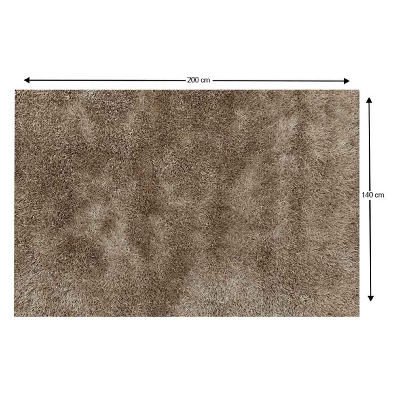 Shaggy koberec AROBA krémová Tempo Kondela 140x200 cm