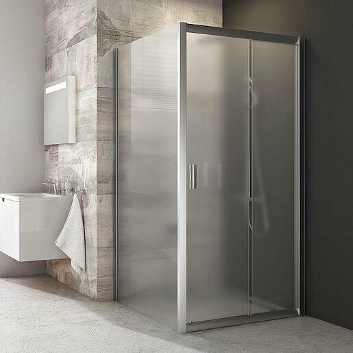 Boční zástěna ke sprchovým dveřím 100x190 cm Ravak Blix chrom matný 9BHA0U00ZG
