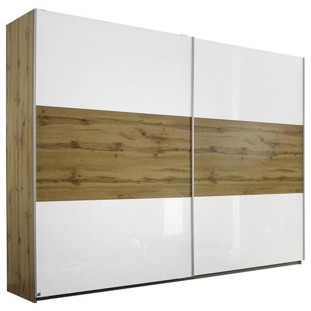 Modern Living Skříň S Pos. Dveřmi.(Hor.ved.), Barvy Dubu - Skříně s posuvnými dveřmi - 000380032803