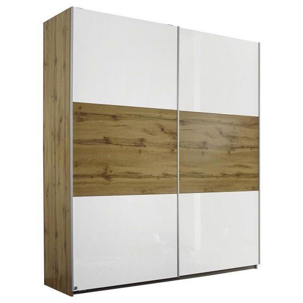 Modern Living Skříň S Pos. Dveřmi.(Hor.ved.), Barvy Dubu - Skříně s posuvnými dveřmi - 000380032802