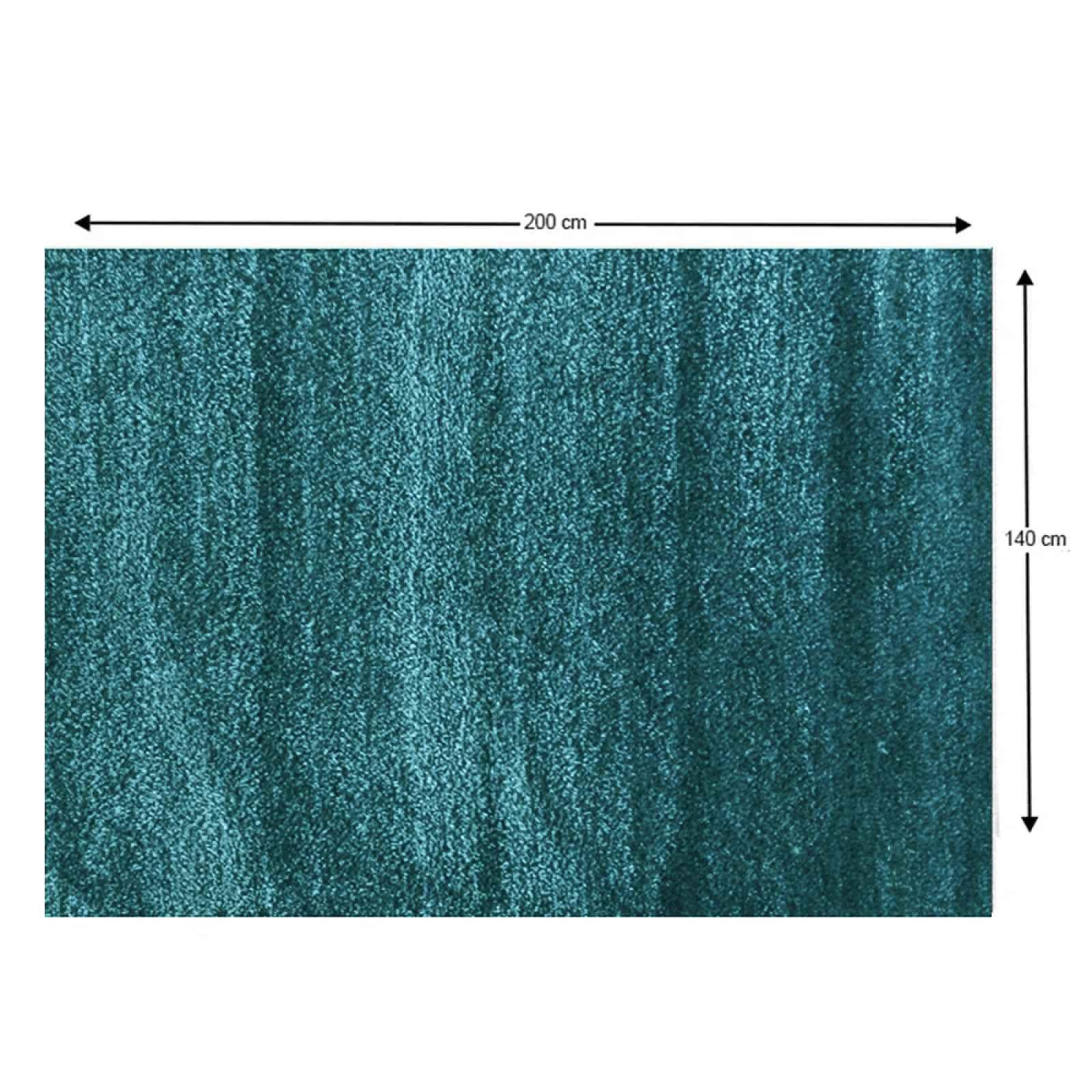 Shaggy koberec ARUNA tyrkysová Tempo Kondela 140x200 cm