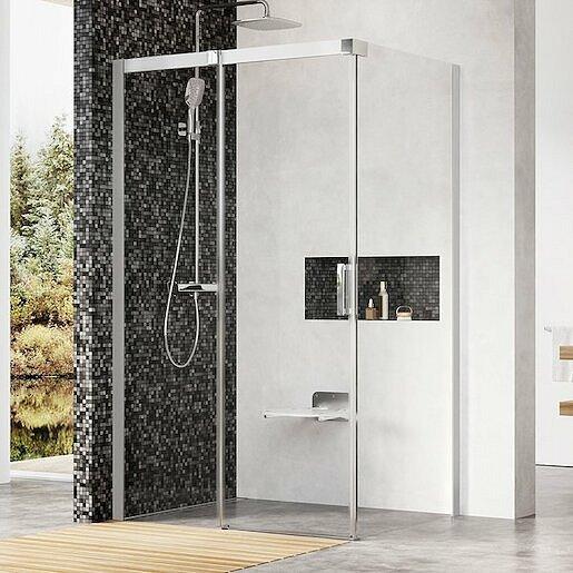 Sprchový kout 80x195 cm levá Ravak Matrix chrom matný 0WLA4U00Z1