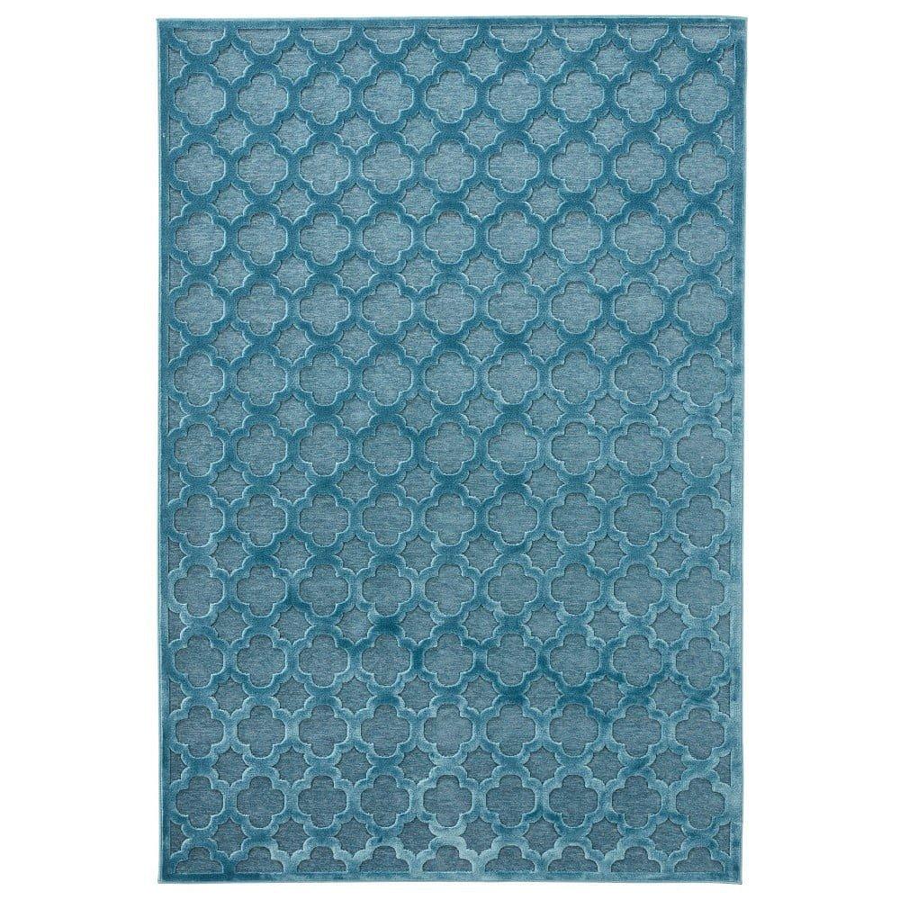 Modrý koberec z viskózy Mint Rugs Bryon, 160 x 230 cm