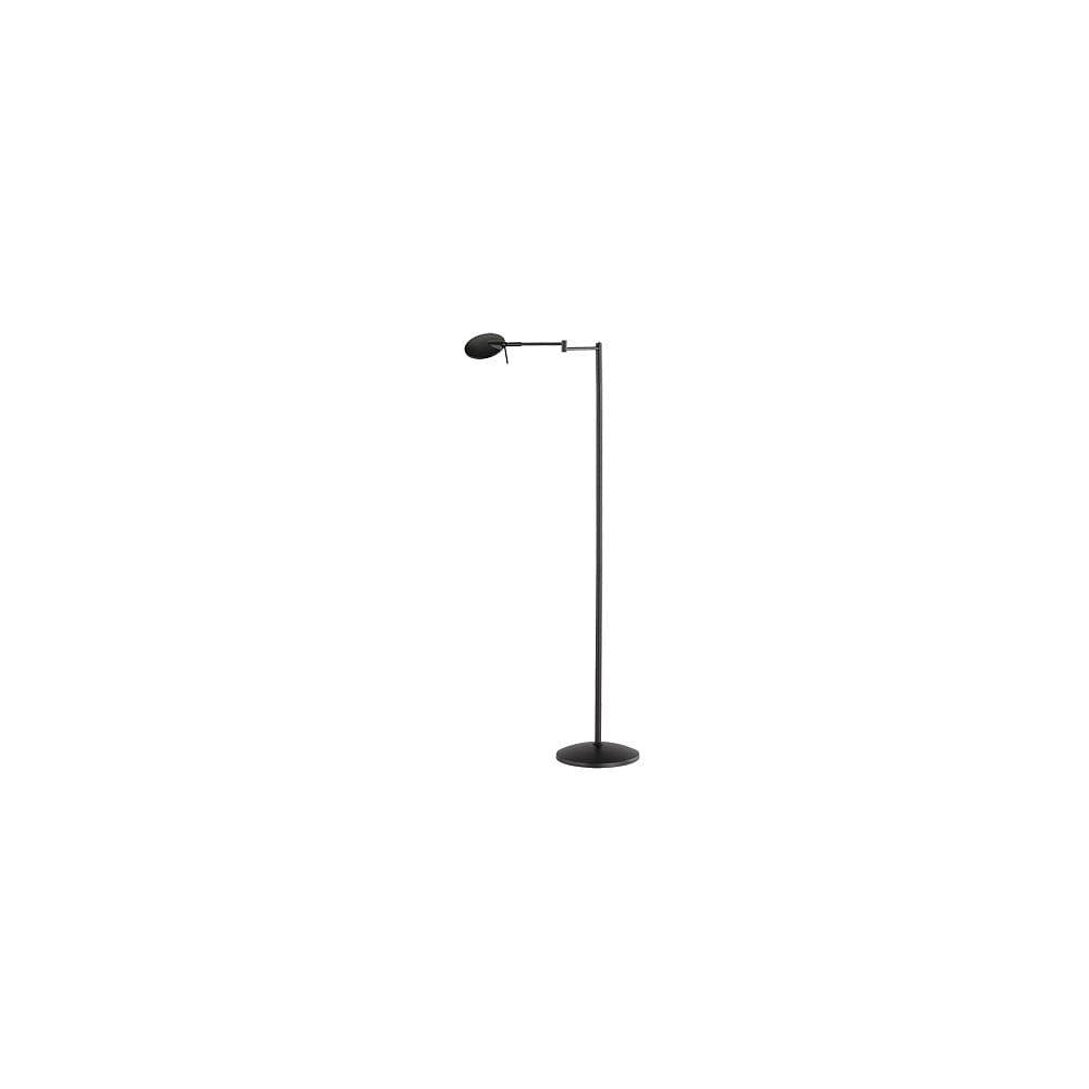 Černá stojací LED lampa Trio Kazan, výška
