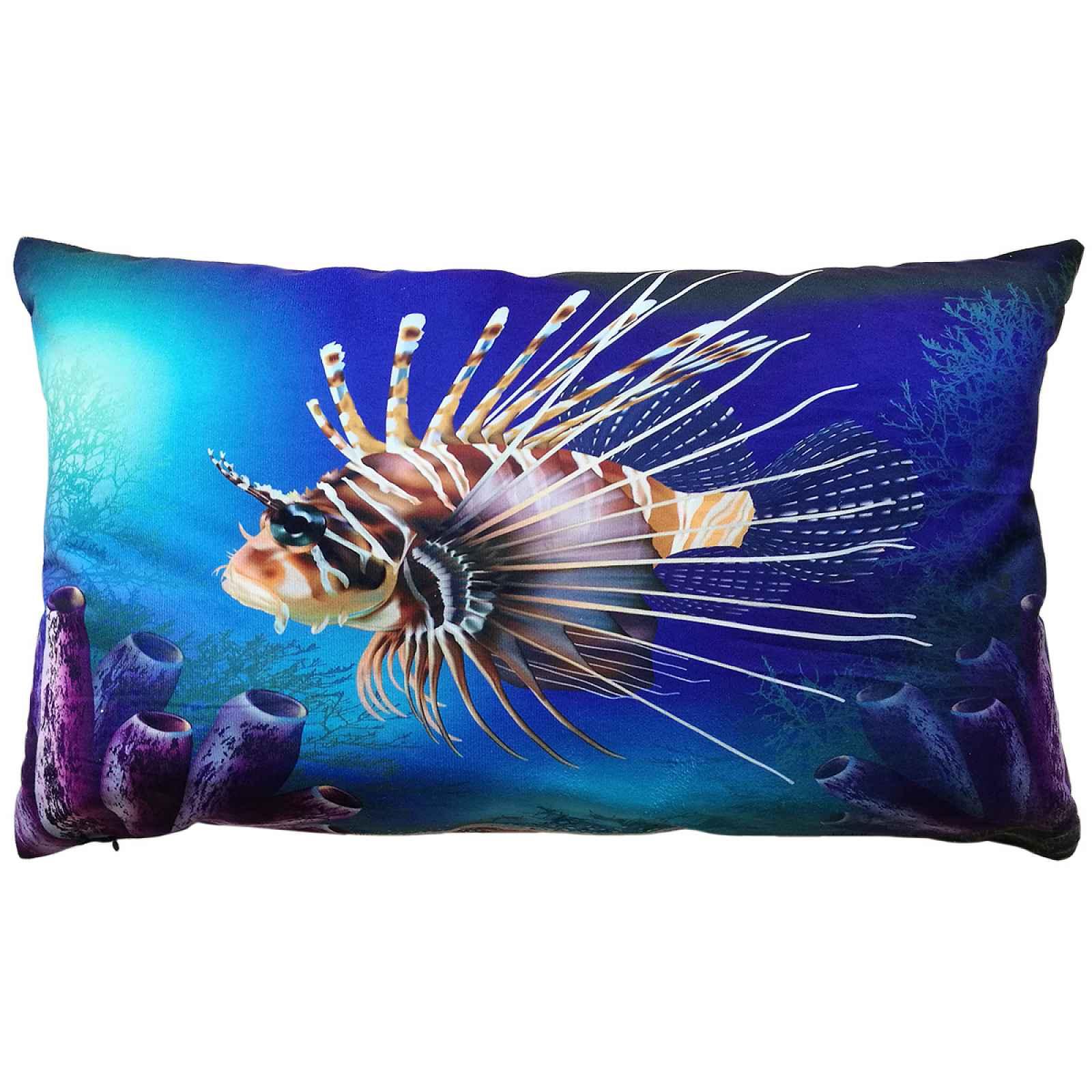 Polštářek Harlekýn Ryba, 35 x 60 cm