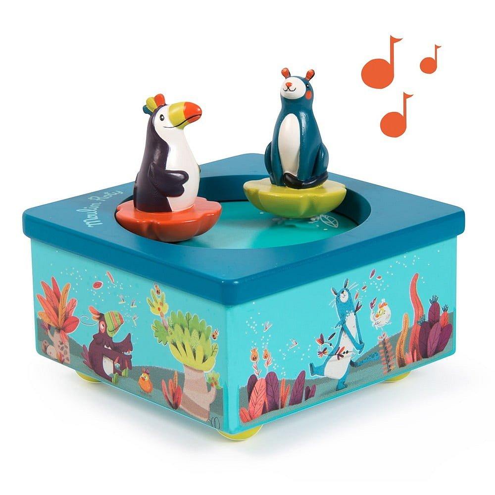 Dětská hrací skříňka Moulin Roty Jungle
