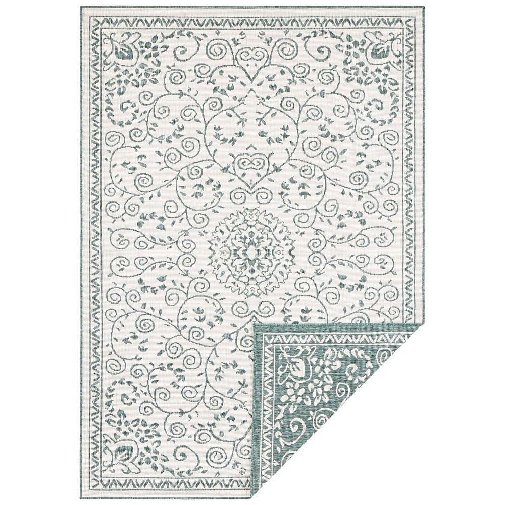 Zeleno-krémový venkovní koberec Bougari Leyte, 160 x 230 cm