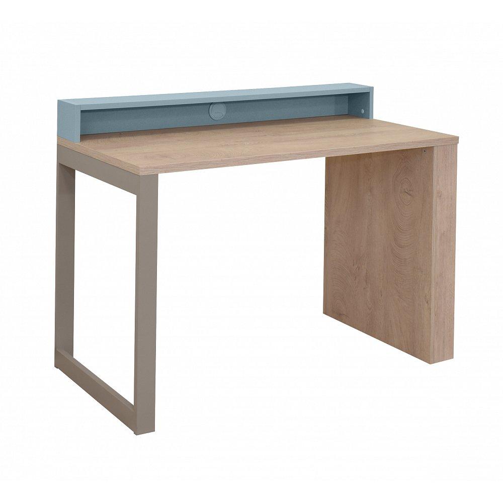 KINDER Pracovní stůl, dub/modrá