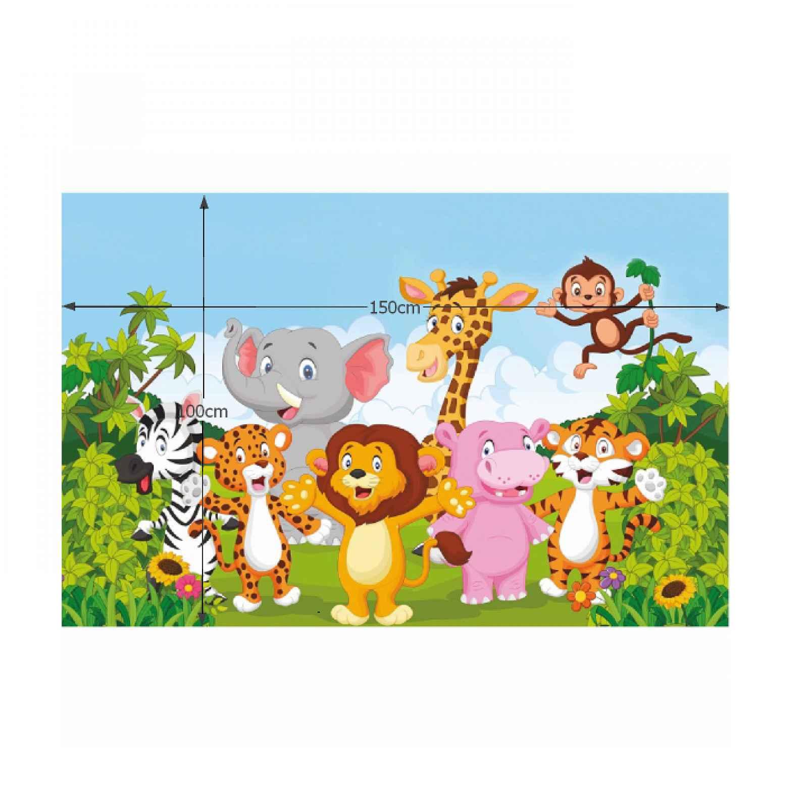 Dětský koberec XANDER vzor safari Tempo Kondela 100x150 cm