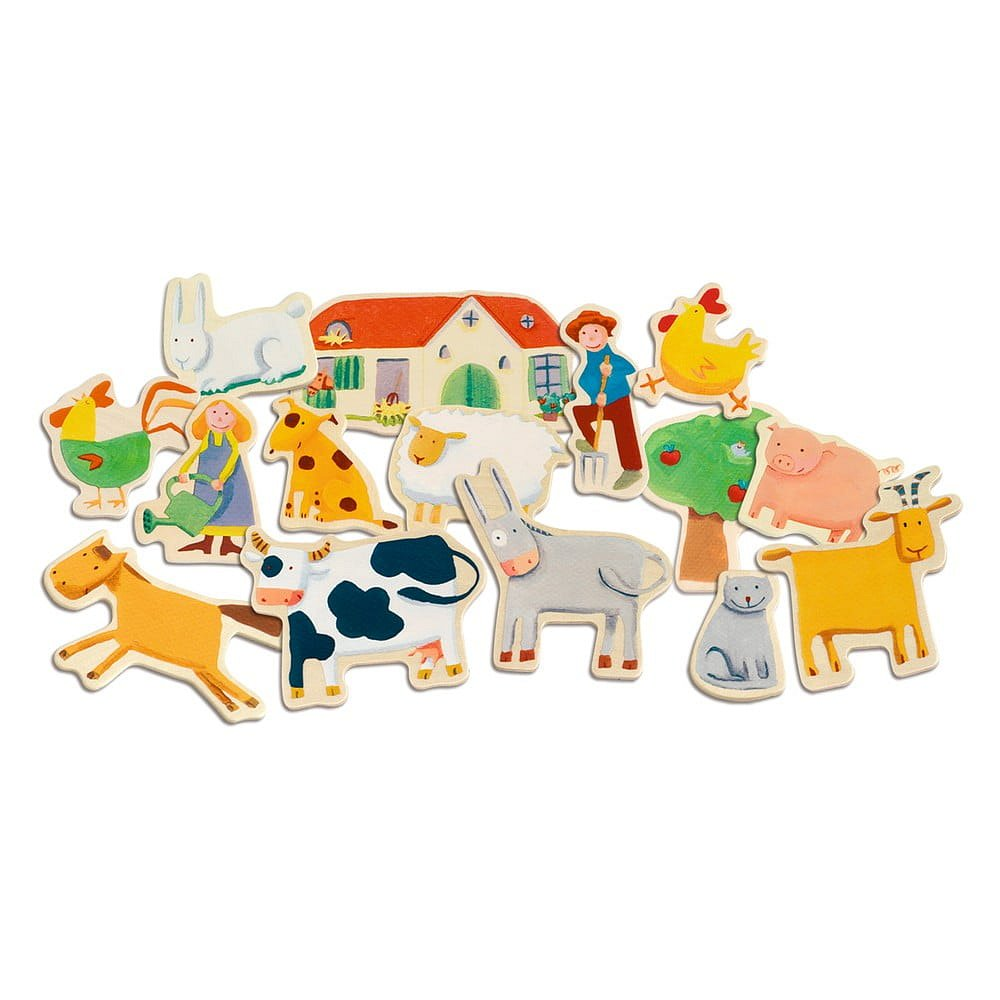 Dětské magnety Djeco farma