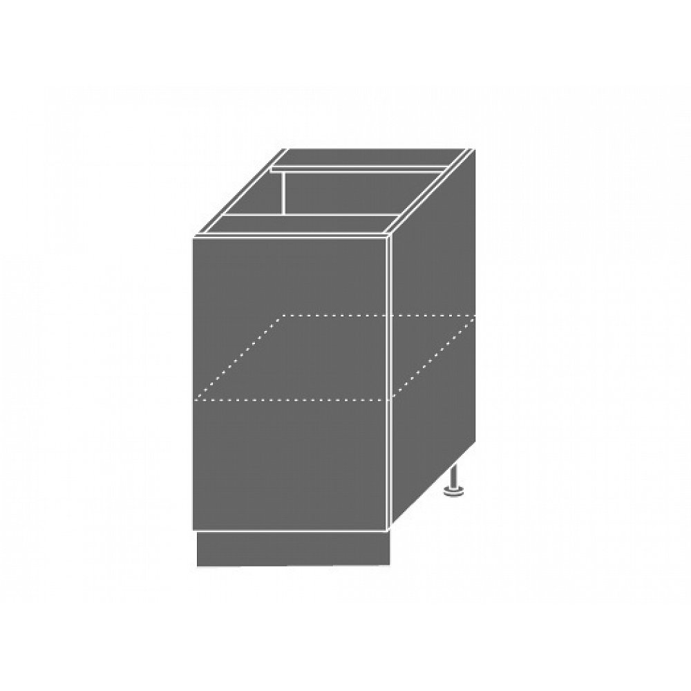 TITANIUM, skříňka dolní D1D 50, korpus: lava, barva: fino bílé