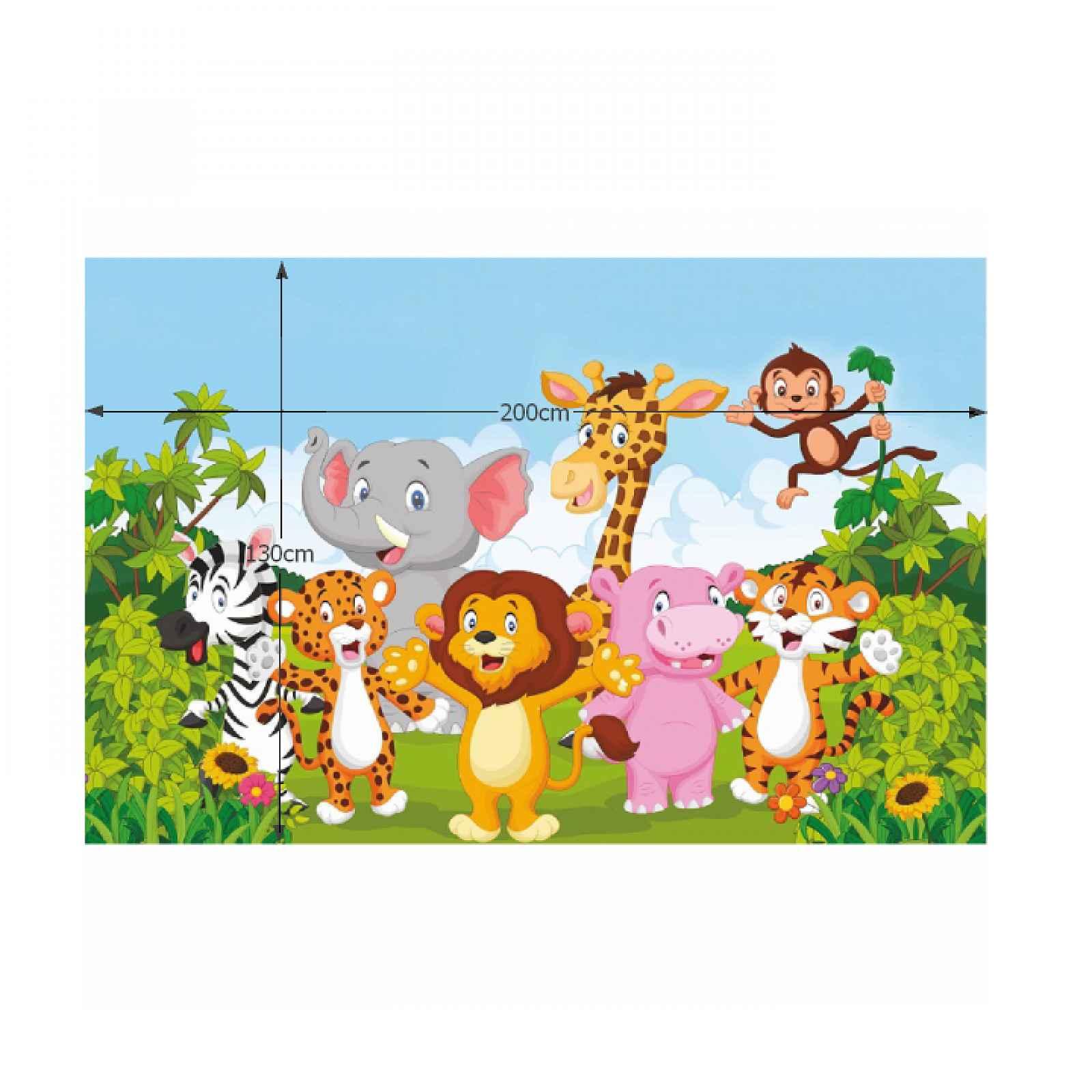 Dětský koberec XANDER vzor safari Tempo Kondela 130x200 cm