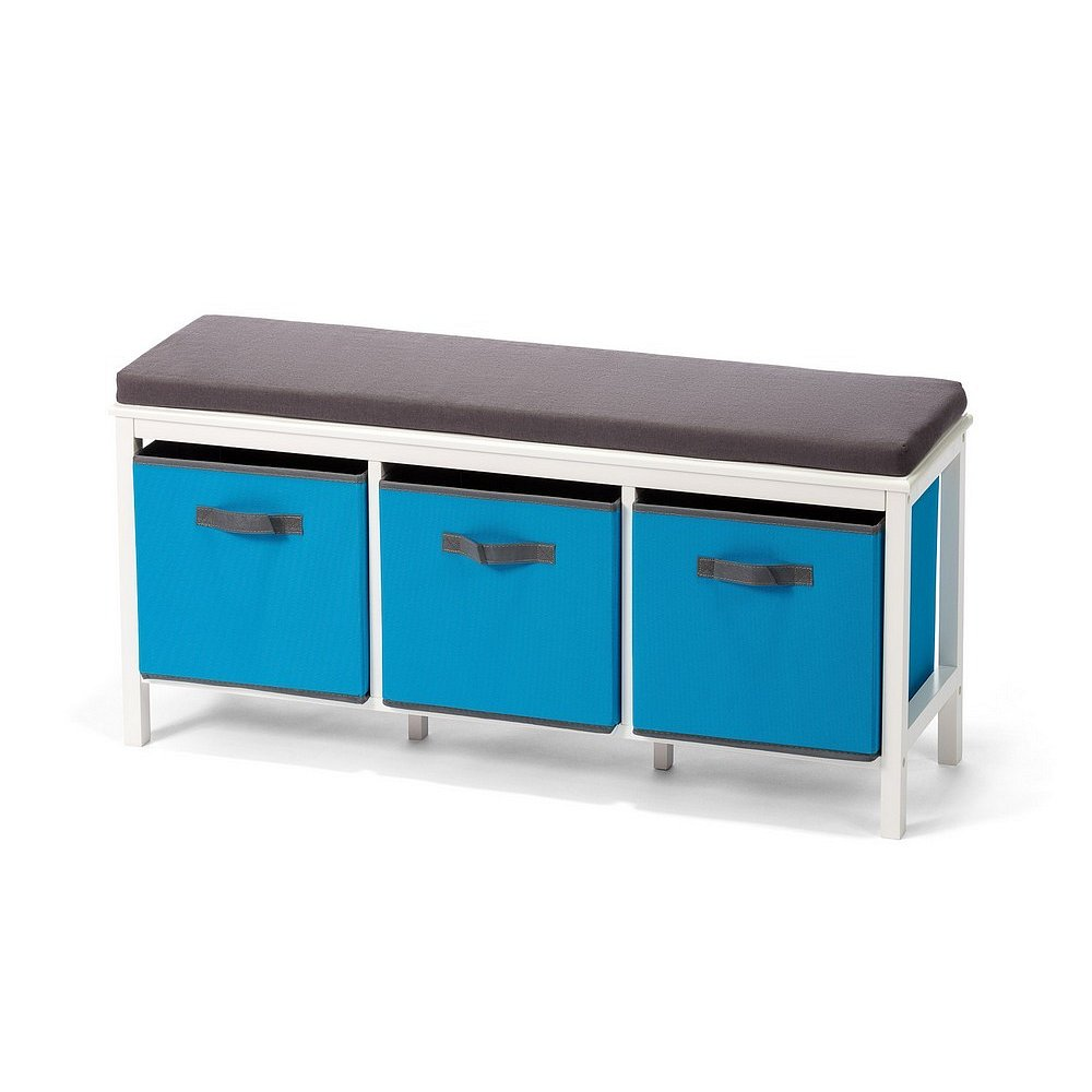Lavice JANYS 3 boxy modrá