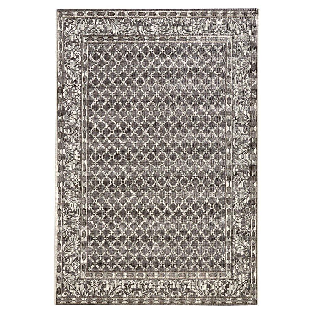 Šedo-krémový venkovní koberec Bougari Royal, 115x165cm