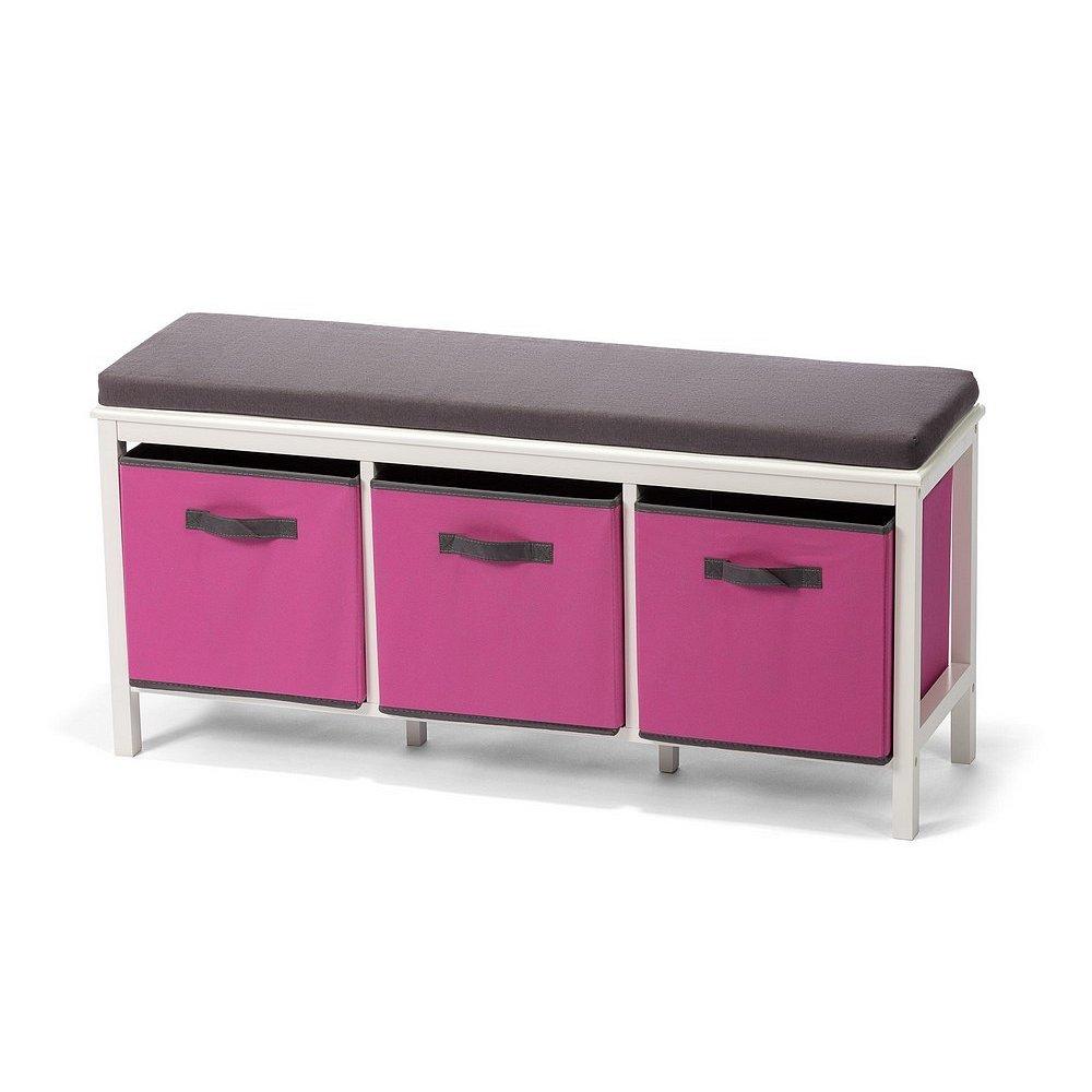 Lavice JANYS 3 boxy růžová