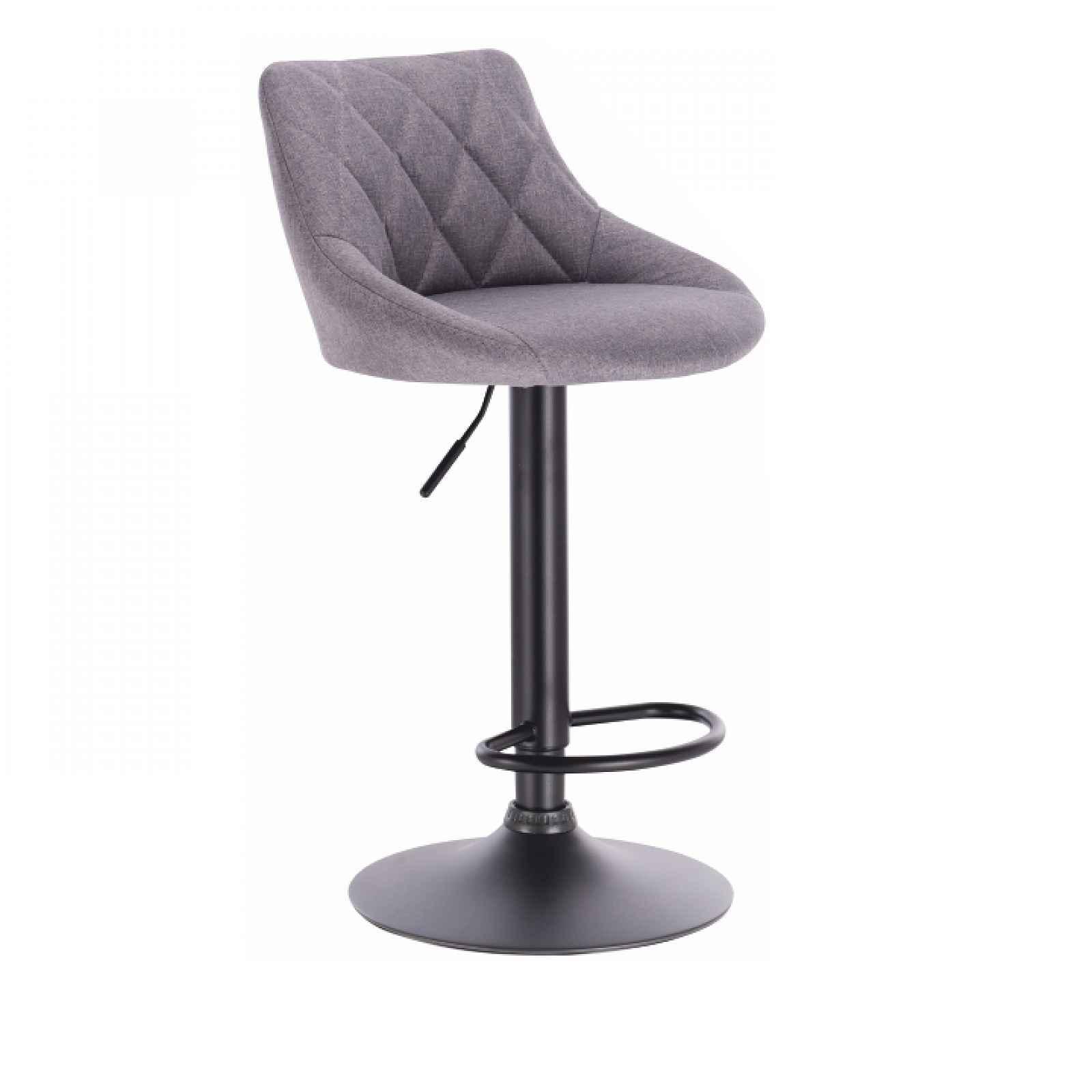 Barová židle, šedá/černá, TERKAN 0000206808 Tempo Kondela