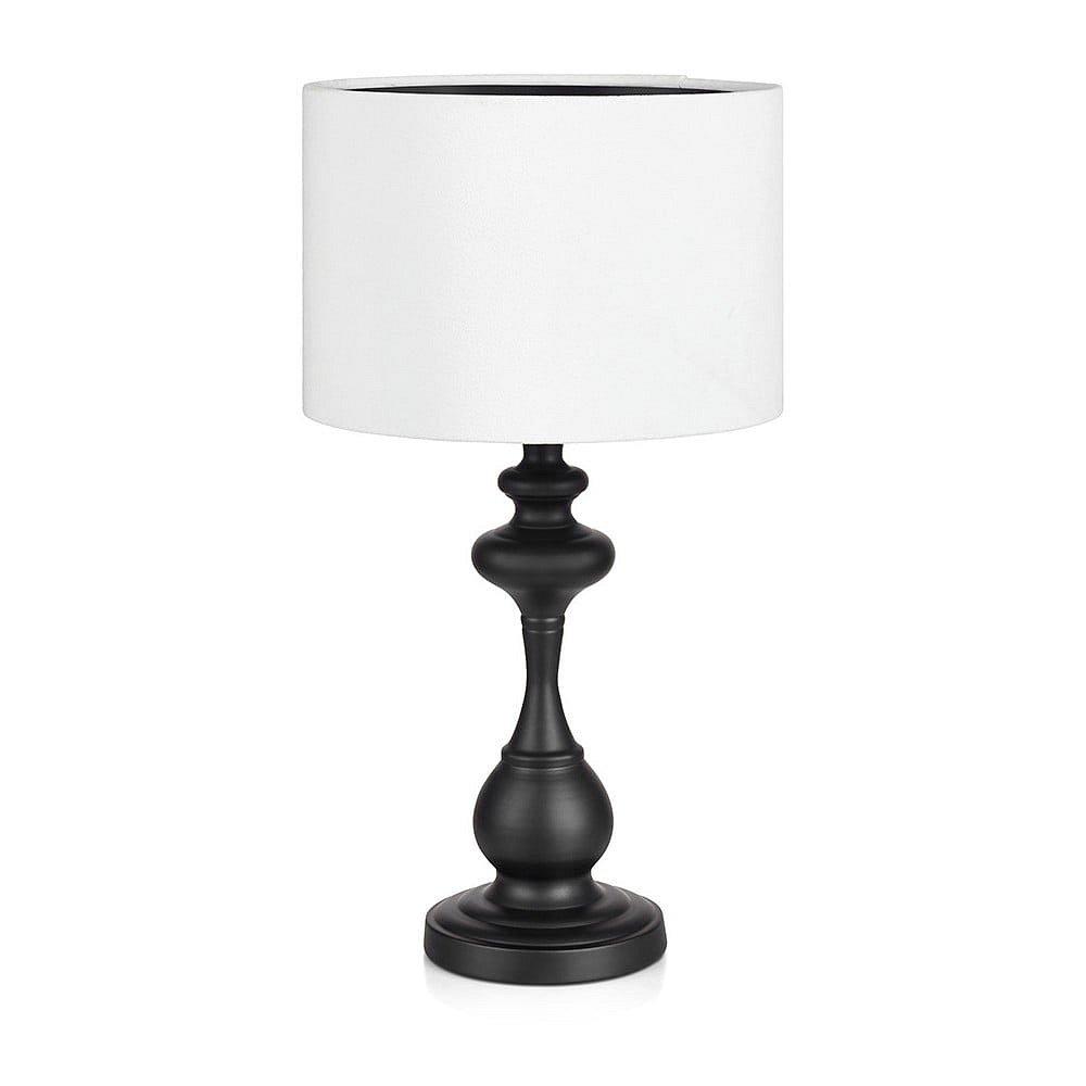 Černo-bílá stolní lampa Markslöjd Connor