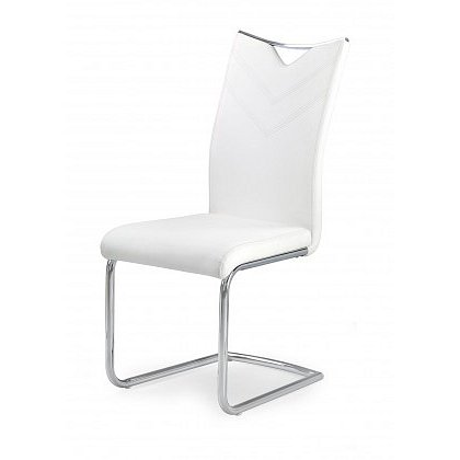 Jídelní židle K224 (bílá, stříbrná)