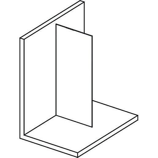 Boční zástěna ke sprchovým dveřím 100x200 cm Polysan MODULAR chrom lesklý MS1-100
