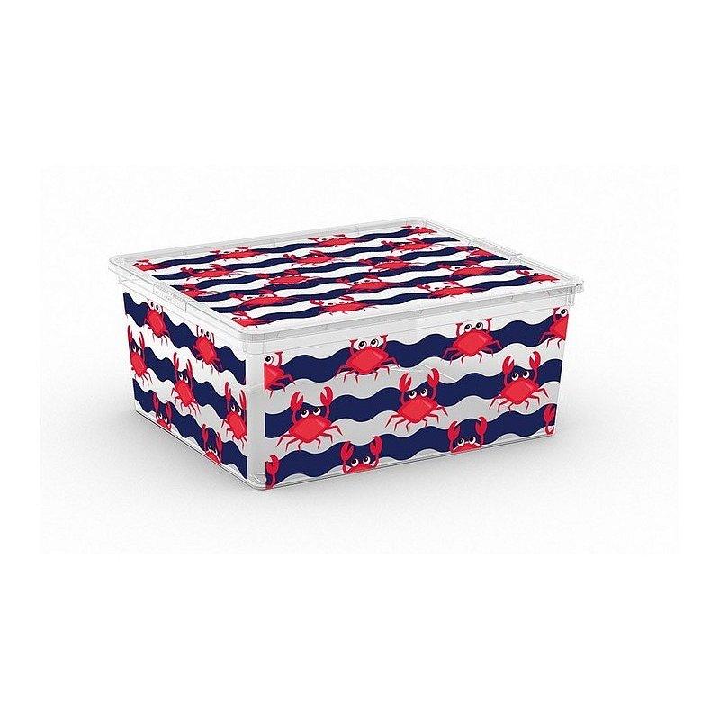 Úložný box velikosti M motiv Cute Animals krab