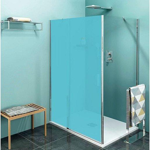 Boční zástěna ke sprchovým dveřím 100x200 cm Polysan Zoom chrom lesklý ZL3210