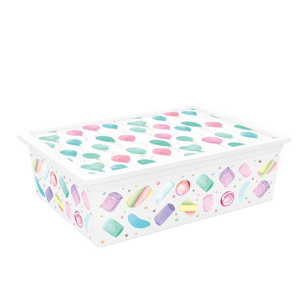 Úložný box velikosti L motiv Style Portobello