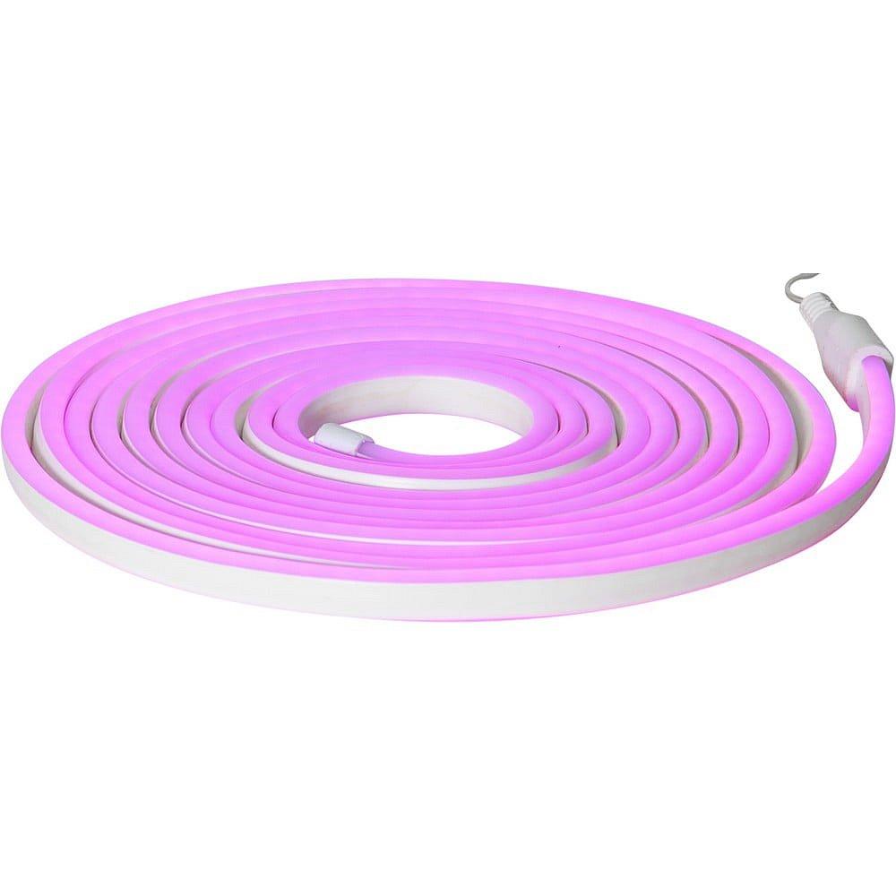 Fialový venkovní světelný řetěz Best Season Rope Light Flatneon, délka 500 cm
