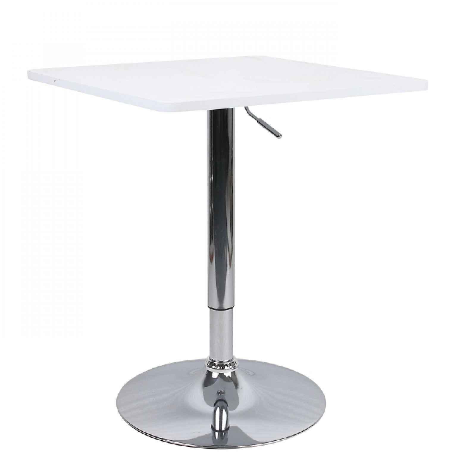 Barový stůl FLORIAN 2 NEW bílá / chrom Tempo Kondela