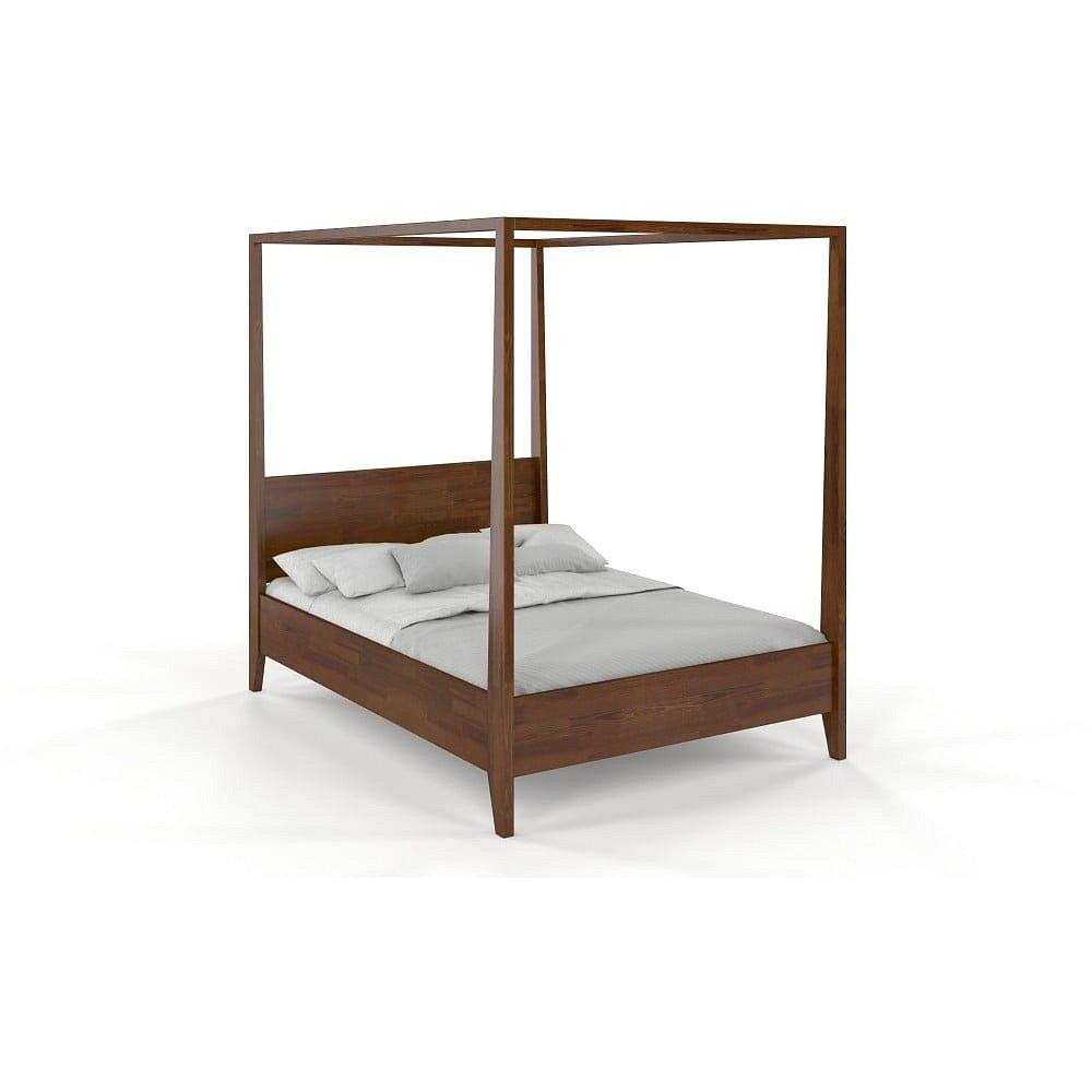 Dvoulůžková postel z masivního borovicového dřeva SKANDICA Canopy Dark, 180 x 200 cm