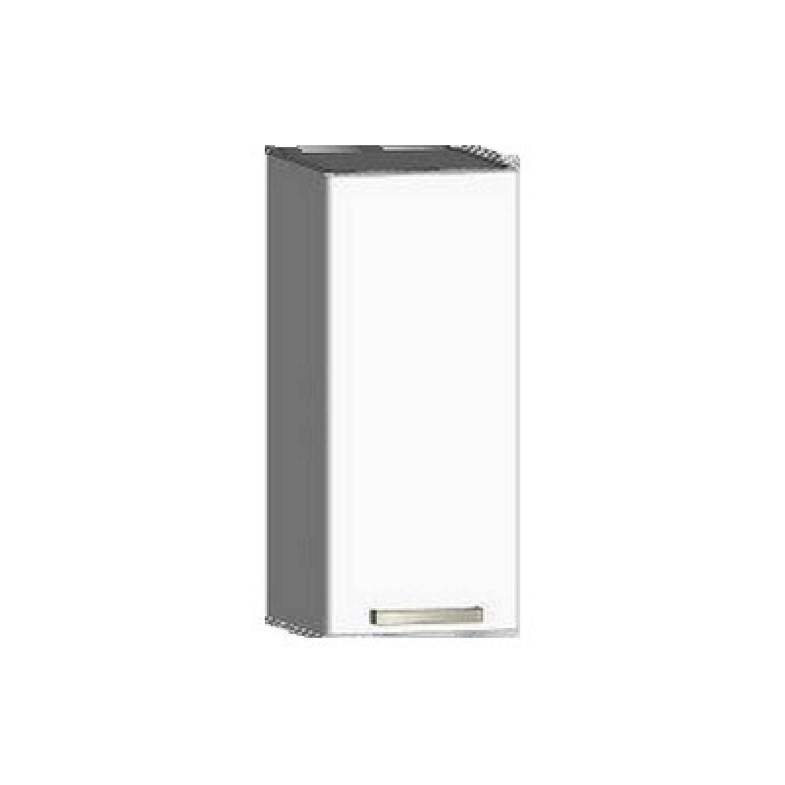 Horní kuchyňská skříňka One EH30, pravá, bílý lesk, šířka 30 cm