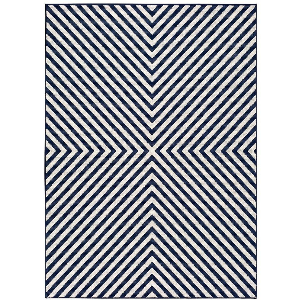 Modro-bílý venkovní koberec Universal Cannes Hypnotic, 200 x 140 cm