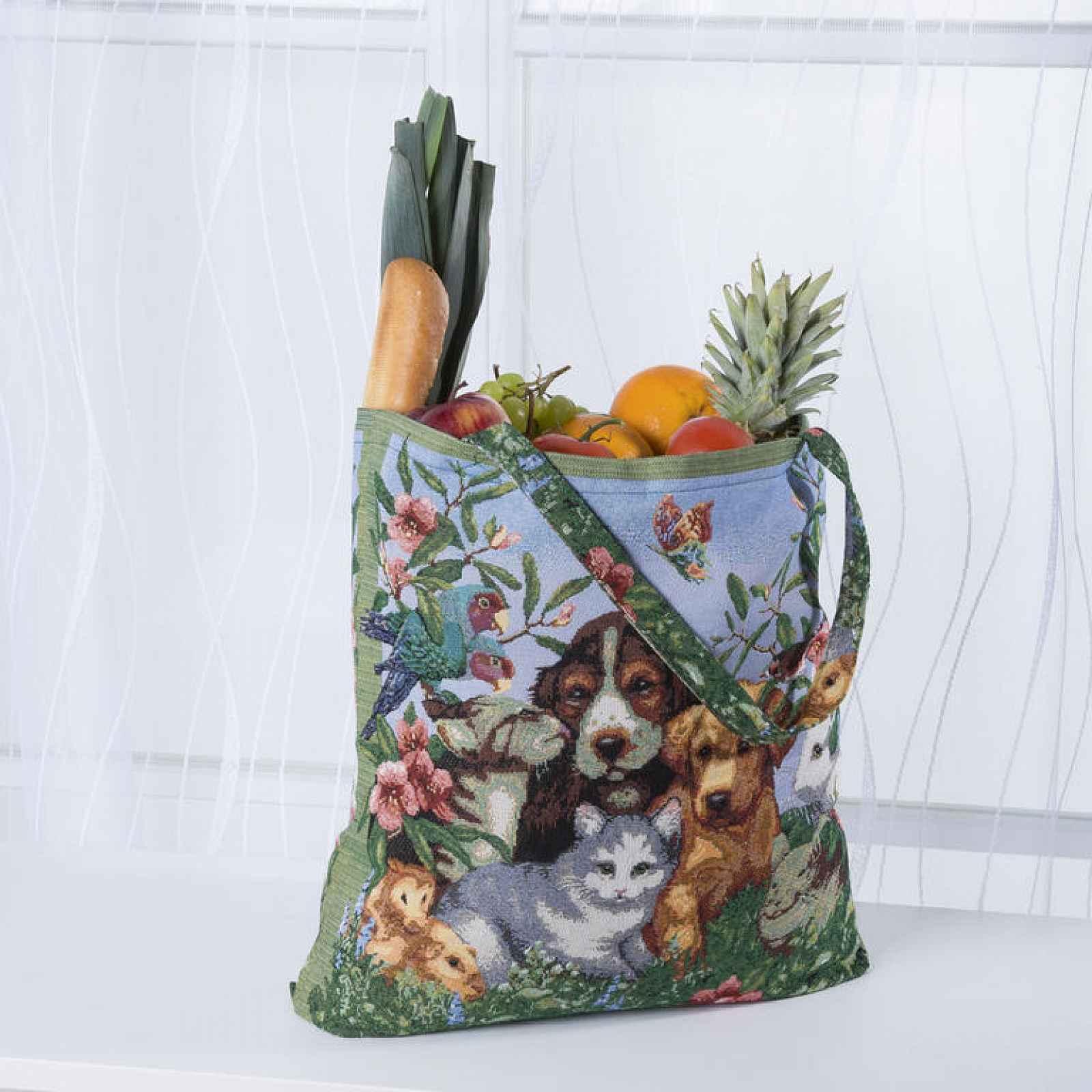 Žakárová taška se psy
