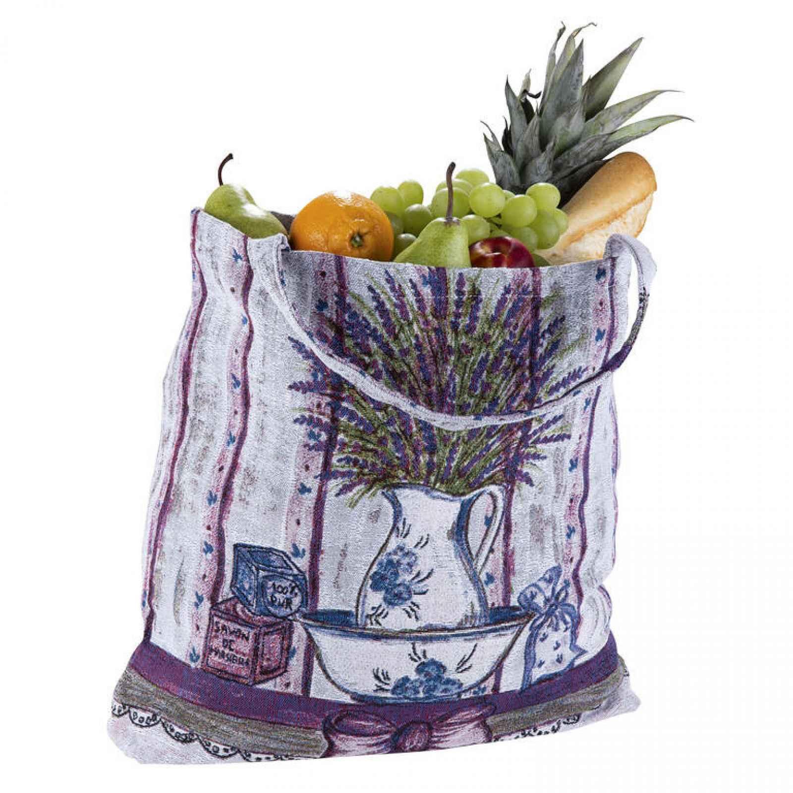Textilní nákupní taška LEVANDULE