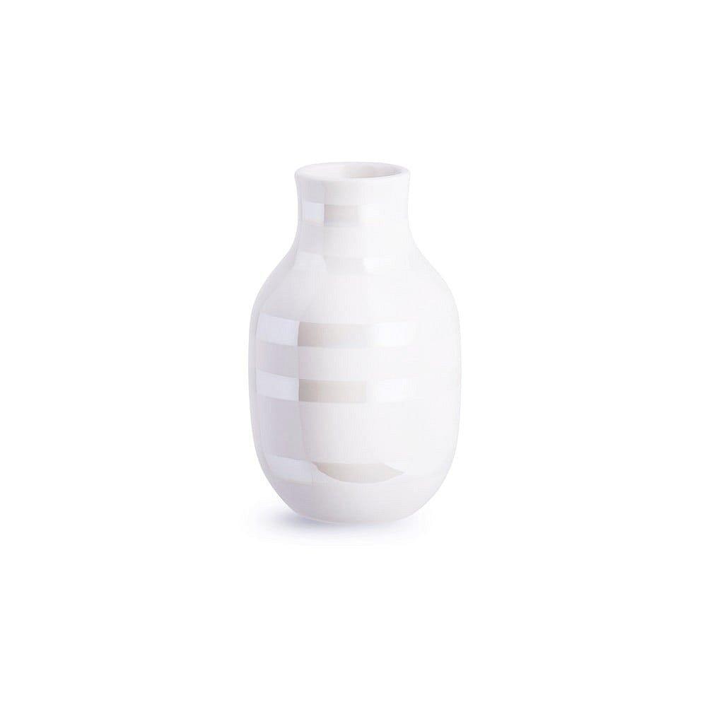 Bílá kameninová váza Kähler Design Omaggio, výška 12,5 cm