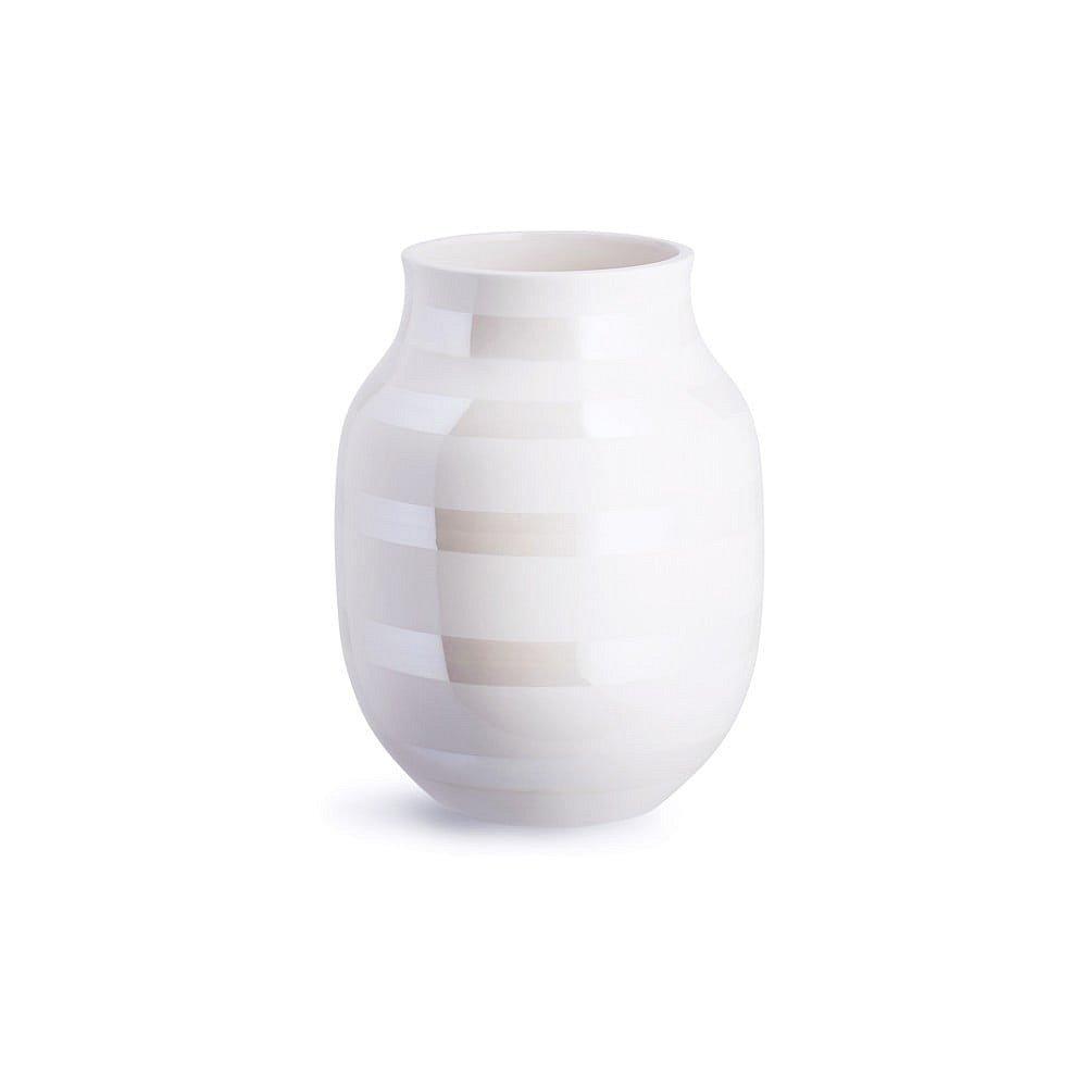 Bílá kameninová váza Kähler Design Omaggio, výška 20 cm