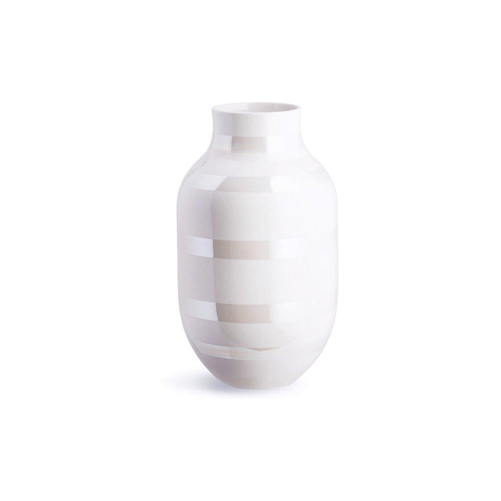 Bílá kameninová váza Kähler Design Omaggio, výška 30,5 cm