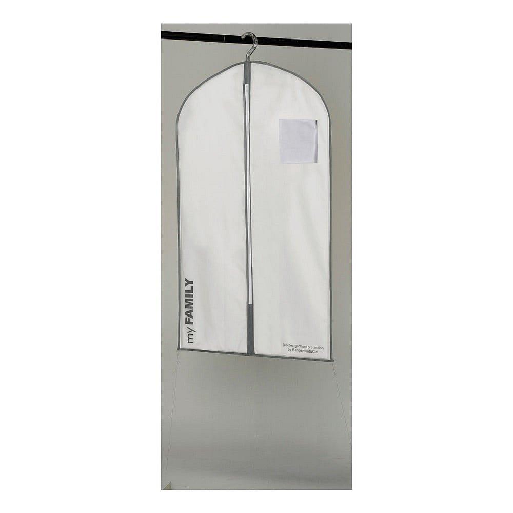 Bílý závěsný obal na oblečení Compactor Suit Bag White