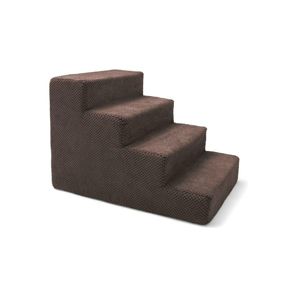 Hnědé schody pro psy a kočky Marendog Stairs, 40 x 60 x 40 cm